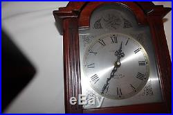 Tempus Fugit Quartz Wall Westminster Chime Clock With Pendulum