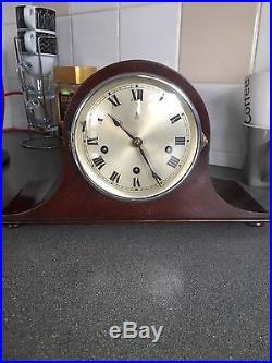 Tiny Mahogany Cased Gustav Becker Westminster Chimes Clock Working Order