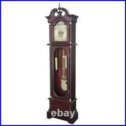 Traditional Grandfather Clock, Floor Standing, Swinging Pendulum, Roman Numerals