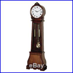 Traditional Grandfather Clock Floor Westminster Pendulum Chimes Brown Vintage