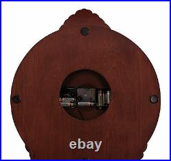 Traditional Village Style Accent Westminster Grandfather Clock Brown