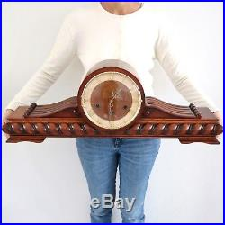 VEDETTE Vintage Mantel Clock WESTMINSTER Chime 29.7 Inch HIGH GLOSS French LARGE