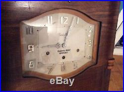 VEDETTE Westminster chime wall clock France Art Deco French Pendulum Vintage