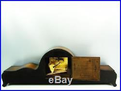 Very Big Beautiful Art Deco Hermle Westminster Chiming Mantel Clock