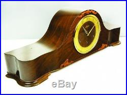Very Big Beautiful Art Deco Westminster Chiming Mantel Clock From Junghans