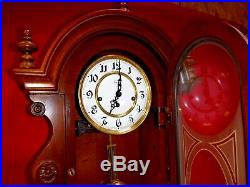 VERY NICE RIDGEWAY WESTMINSTER Chime Wall Clock German Movement WORKING WITH KEY