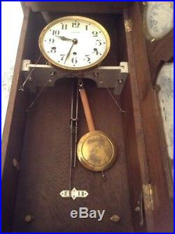 VINTAGE FRENCH 1930's VEDETTE 8 RODS & HAMMERS WESTMINSTER CHIME CLOCK (2284)
