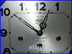 VINTAGE GIROD (FRANCE) ART DECO WALL CLOCK Westminster Chimes Ch Jacobée Verdun