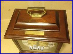 VINTAGE HAMILTON WESTMINSTER CHIME 8 DAY Mantle CLOCK. Made in GERMANY WORKING