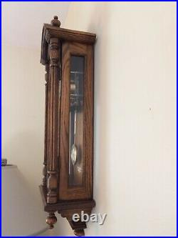 VINTAGE HOWARD MILLER 612-462 OAK WALL 8 DAY CLOCK With WESTMINSTER CHIME KEY WIND
