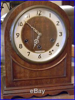 Vtg Antique Seth Thomas Mahogany Wood Westminster Chime Beehive Mantle Clock Ww2