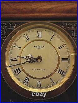 Verichron Quartz Wall Clock With Westminster Chime, 31 x 13 x 5