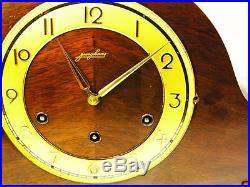 Very Big Beautiful Art Deco Junghans Westminster Chiming Mantel Clock