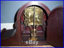 Very Large Junghans B21 Wurttemburg Westminster Chime Mantel Clock Dark Case