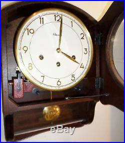 Very Nice Old German Henri Cohler Mauthe Westminster Chime 8 Day Wood Wall Clock