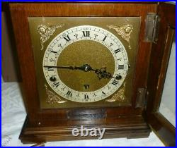 Very Nice Vintage Elliott Westminster Chime Clock Retailed By Garrards With Box