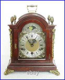 Very Rare Warmink Triple Chime Westminster Bracket Clock Moon Phase Burr Walnut