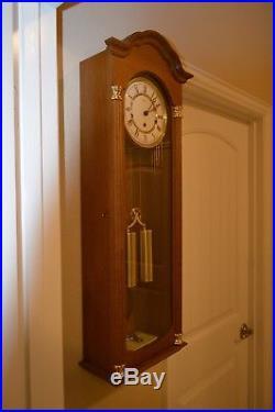 Vienna Regulator Hermle Wall Clock Westminster Chimes 8 Day Beautiful Shape