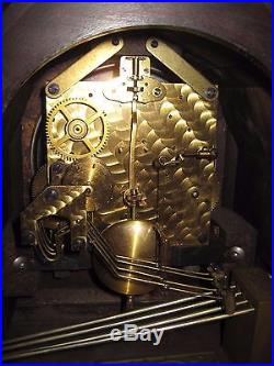 Vintage 1924 JUNGHANS Wurttemberg WESTMINSTER Chime MANTEL Clock A42 With KEY