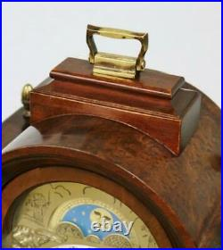 Vintage 8 Day Hermle Mahogany & Bronze Musical Westminster Chime Bracket Clock