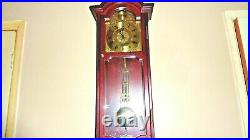 Vintage Ams Large Hermle Westminster Chime Wooden Wall Clock