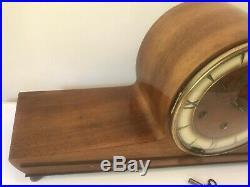 Vintage Antique Shelf Tambour Mantle Clock HT Anker Westminster Chime Germany
