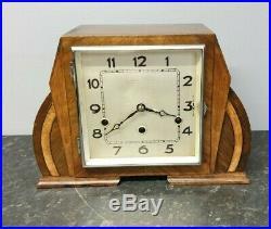 Vintage Art Deco 8 Day Westminster Chiming Mantle Clock