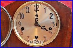 Vintage Art Deco'Enfield' 8-Day Mantel Clock with Westminster Chimes
