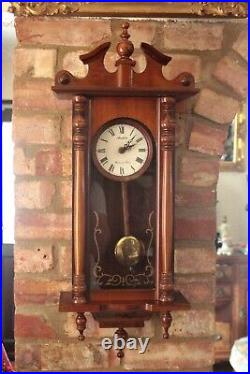 Vintage'Avalon' Wall Quartz Clock with Westminster Chimes