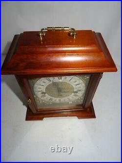 Vintage Bracket Clock, Franz Hermle 340-020 Westminster Chimes Movement. Working
