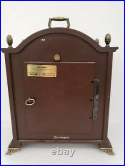 Vintage Bulova Tempus Fugit Mantel Clock Westminster chime, strikes, keeps time