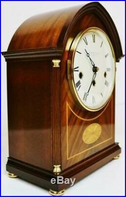 Vintage Comitti 8 Day Westminster Chime Musical Lancet Top Mantel Bracket Clock