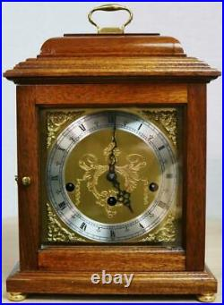 Vintage Comitti Of London 8 Day Solid Mahogany Westminster Chime Mantel Clock