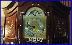 Vintage Curio Grandfather Clock with Westminster Chime Beautiful LOCAL PICKUP