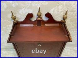 Vintage Daneker Mantel Clock Westminster Chimes Not Running No Wood Skirt
