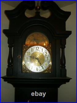 Vintage Ebony Grandfather Clock Mason & Sullivan