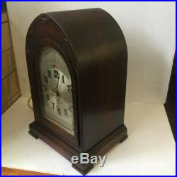 Vintage Electric Telechron Revere Westminster chime clock Arched top. WithO