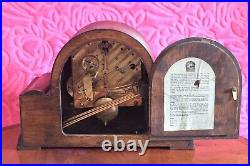 Vintage English'Norland' 8-Day Mantel Clock with Westminster Chimes