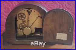 Vintage English'Smiths' 8-Day Mantel Clock with Westminster Chimes