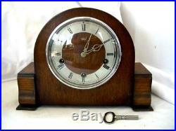 Vintage English'Smiths-Enfield' 8-Day Mantel Clock with Westminster Chimes