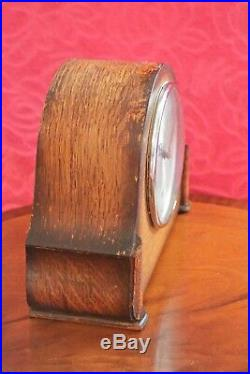 Vintage English'Smiths Enfield' 8-Day Mantel Clock with Westminster Chimes