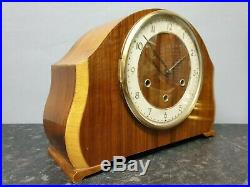 Vintage Ercol Style 8 Day Westminster Chiming Mantle Clock