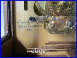 Vintage Franz Hermle German Westminster Chimes Mantel Bracket Clock 340-020