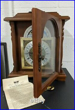 Vintage Franz Hermle Mantel Clock Key Wound Westminster Chimes
