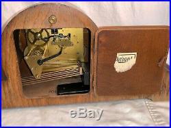 Vintage GARANT Schwebe Anker MANTLE CLOCK Westminster Chime HUMPBACK 1950s