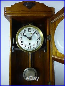 Vintage German 8 day Westminster chime wall clock. Good working