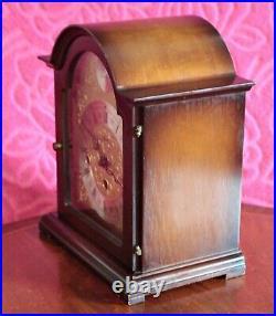 Vintage German Franz Hermle Tempus Fugit Bracket Clock with Westminster Chimes