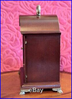 Vintage German'Hermle' 8-Day Bracket Clock with Westminster Chimes & Moon Phase