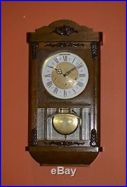 Vintage German Jauch Westminster Chime Wall Clock