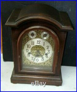 Vintage German Junghans/wuttemberg Mantyle Clock With Westminster Chimes